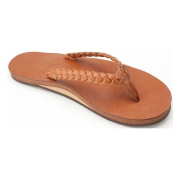 7c9b409f5076 Rainbow Twisted sister braided sandals tan brown. M 5a94acd38df470ab8b827445